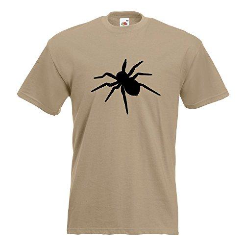 KIWISTAR - Spinne Spider Silhouette 3 T-Shirt in 15 verschiedenen Farben - Herren Funshirt bedruckt Design Sprüche Spruch Motive Oberteil Baumwolle Print Größe S M L XL XXL Khaki