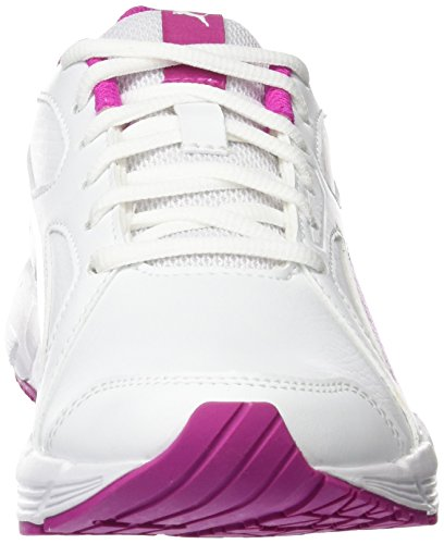Puma Axis V4 Sl Jr Unisex-Kinder Low-Top Weiß (puma white-ultra magenta 14)