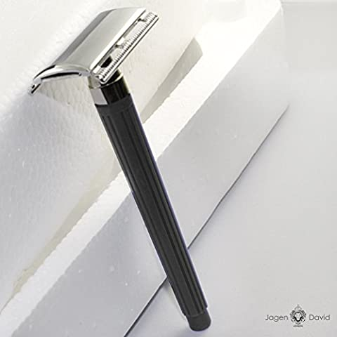 Jagen David Jagen David E02 - Black Double Edge Razor Safety Razor Fits All Double Edge Razor Blades unique Christmas gift for him