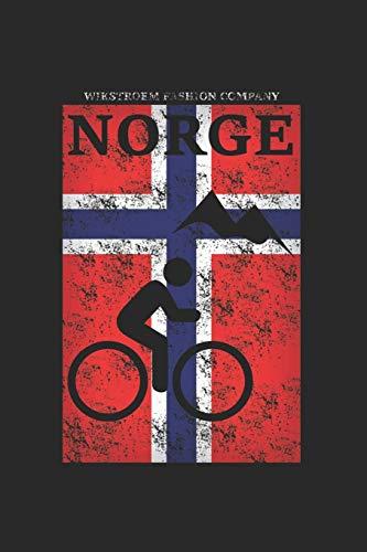 Wikstroem - Notes: Norwegen Berge Fahrrad Mountainbike used look - Notizbuch 15,24 x 22,86 kariert