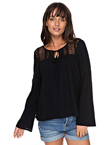 Roxy Sweet Sunshine Woven top Anthracite - Solid