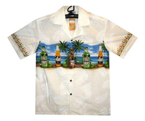 Hawaiihemd, Größe 3XL, weiß (Honolulu Hawaiian Shirt)