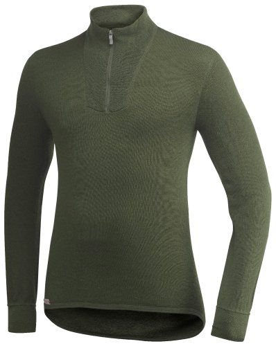 Woolpower Unisex Zip Turtleneck 400 Grün