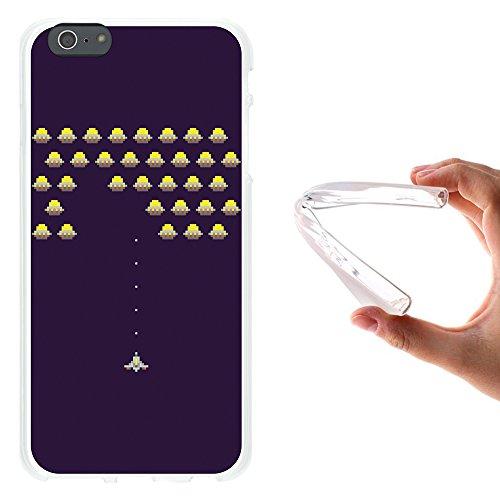 iPhone 6 Plus   6S Plus Hülle, WoowCase® [Hybrid] Handyhülle PC + Silikon für [ iPhone 6 Plus   6S Plus ] Husky-Hunde Sammlung Tier Designs Handytasche Handy Cover Case Schutzhülle - Transparent Housse Gel iPhone 6 Plus   6S Plus Transparent D0402