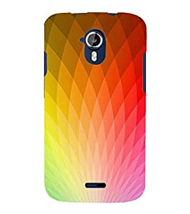 GLOWING PRISM REFLECTION PATTERN 3D Hard Polycarbonate Designer Back Case Cover for Micromax Canvas Magnus A117