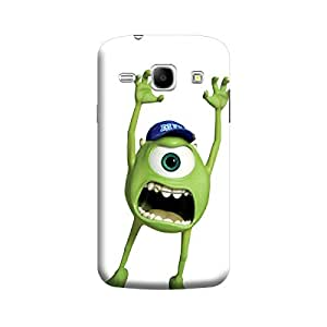 Desicase Samsung Core 8262 Monster Mike Wazowski 3D Matte Finishing Printed Designer Hard Back Case Cover (Green)