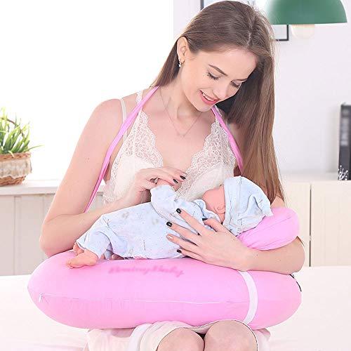 WESEASON Nouveau-né Coussin d'allaitement de Tissu Mou Nouveau-né Parfait pour l'allongement de Nouveau-né donnant Le soulagement à Vos Bras et Dos,Pink