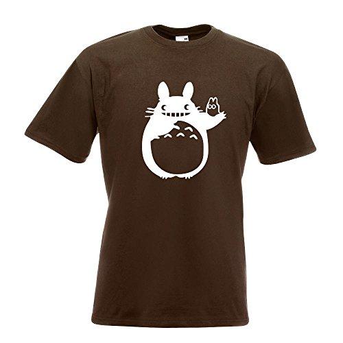 KIWISTAR - My Neighbor Totoro - Mein Nachbar Totoro T-Shirt in 15 verschiedenen Farben - Herren Funshirt bedruckt Design Sprüche Spruch Motive Oberteil Baumwolle Print Größe S M L XL XXL Chocolate