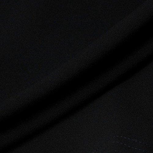 Robe Femme, Oyedens Femmes Manches Longues Bouton Bodycon Mini Robe Noir