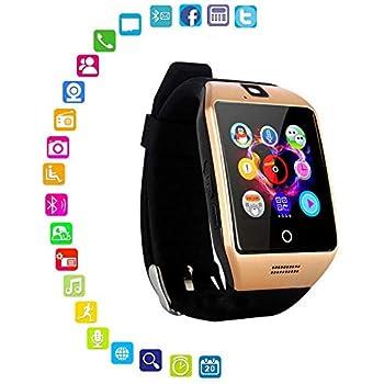 FOONEE Reloj Inteligente con cámara, Q18 Bluetooth Smartwatch Impermeable Deporte Smart Fitness Tracker Reloj de Pulsera con Ranura para Tarjeta SIM ...