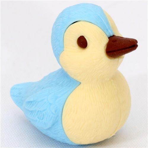 süsser blaue Ente Radiergummi aus Japan von Iwako