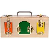 FLAMEER Montessori de Madera Práctico Cajita de Bloqueo Juguetes Niños Educación Infantil