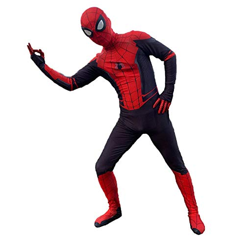 Skelett Zentai Kostüm - YIWANGO Erwachsener Kind Spiderman Kostüm Halloween Kostümball Party Cosplay Kostüm,Adult-M(155-165cm)