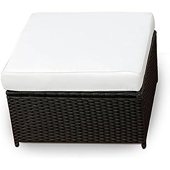 Amazon.de: XINRO® Polyrattan Lounge Möbel Hocker Schwarz ...