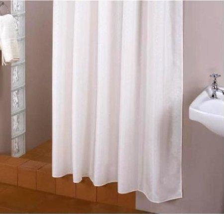 TEXTILE Rideau de douche blanc 150x220 cm extra longueur incl. qualitätsringe ! 150x220 cm ! Rideau de douche blanc dehors