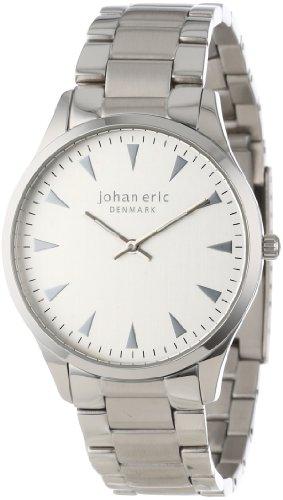 Johan Eric JE9000de hombres–04–001B Helsingor esfera de plata de acero inoxidable reloj de pulsera