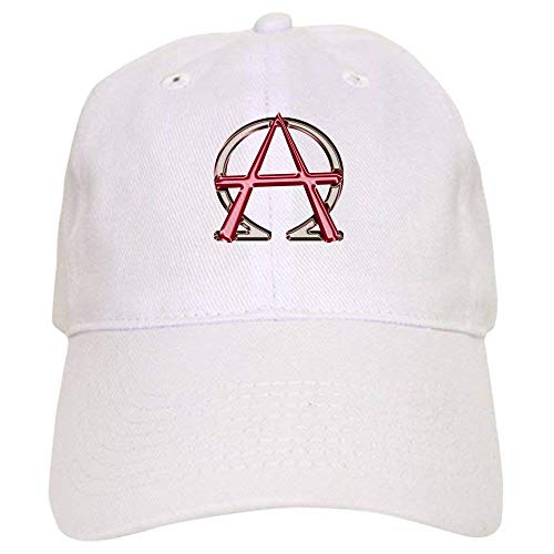 guolinadeou Alpha & Omega Anarchy Symbol - Baseball Cap with Adjustable Closure, Unique Printed Baseball Hat Omega Baseball