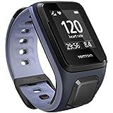 TomTom Runner 2 Cardio - Montre GPS - Bracelet Fin Bleu Marine / Violet Fin (ref 1RF0.001.02)