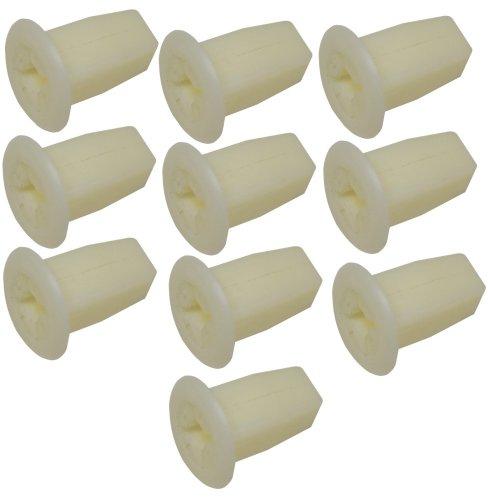 Aerzetix: 10 x Kunststoff Nieten Formteil Plastikclips für Stamm Tür, Auto Control Panel - Tür Control Panel
