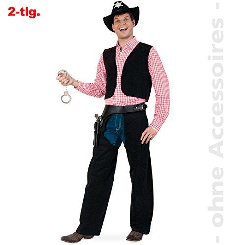Cowboy Chaps Kostüm - Herren-Kostüm