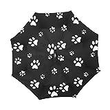XiangHeFu double layer Inverted Reverse ombrelloni Cut Animal Dog Puddy Paw Paint pieghevole antivento protezione UV Big dritto per auto con manico a C