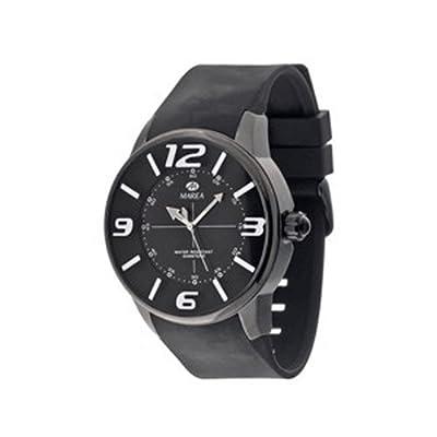Ref. B35174/2 Reloj Marea Caballero, caja de acero, pulsera caucho color negro, esfera negro con números y agujas