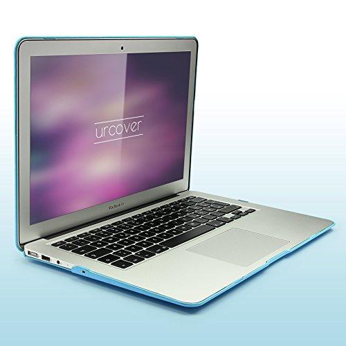 Urcover® 360 Grad Crystal Hard Case kompatibel mit MacBook Pro 13,3 Zoll | Ultra Slim in Samt Hellblau Design | dünne Komplett Schutzhülle Full Body Laptop Cover Hartschale Tasche Zubehör - 0132 Laptop