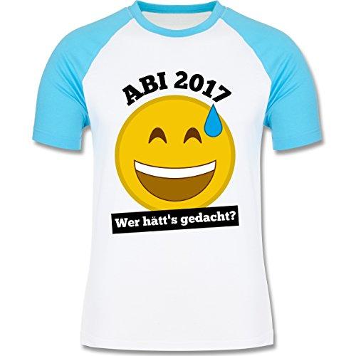 Abi & Abschluss - Abi 2017 - Wer hätt's gedacht? - zweifarbiges Baseballshirt für Männer Weiß/Türkis