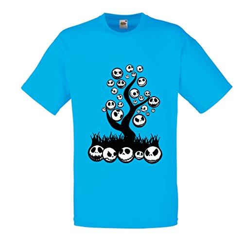 lepni.me Männer T-Shirt Scary! (XX-Large Blau (Gesicht Zwei Kostüm Am Besten)