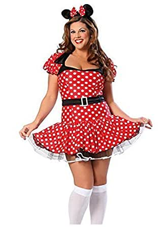 grande taille pour femmes disney minnie mouse d guisement costume femmes costume serre t te. Black Bedroom Furniture Sets. Home Design Ideas