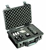 PELI 1500 Schutzkoffer Case schwarz mit Würfelschaum mittlere Größe