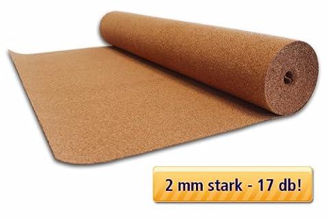 Rollenkork 2 mm Stärke - 10 m² Trittschalldämmung