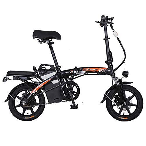 Wheel-hy Bicicletta Elettrica Pieghevole, Motore 350W Unisex - Adulto, 48V 25Ah, Ruote da 16 Pollici