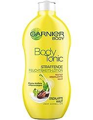 GARNIER Body Feuchtigkeitscreme Body Tonic / hautstraffende Body Lotion für intensive Feuchtigkeitspflege (mit Phyto-Koffein-Extrakt & Meeresalgen - für erschlaffte Haut - dermatologisch getestet) 1 x 400ml