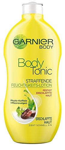 Garnier Body Tonic Straffende Feuchtigkeits-Lotion, strafft erschlaffte Haut und spendet Feuchtigkeit, mit Phyto-Koffein und Meeresalgen, 400 ml -