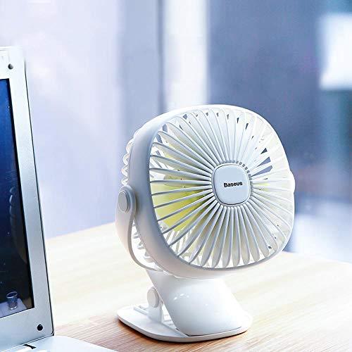 Mini USB recargable de aire del ventilador de refrigeración del clip Escritorio...