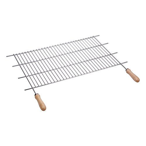 sauvic-02465-grille-de-barbecue-zinguee-avec-manches-acier-bois-60-x-40-cm