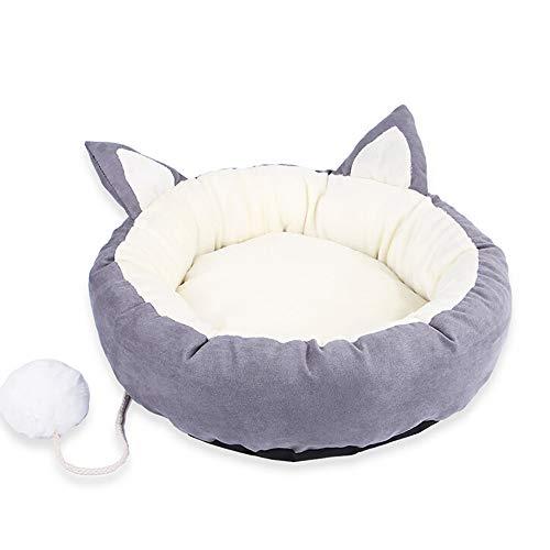 Amphia - Rote Katzenstreu des Haustiernetzes,Pet Dog Cat Bed Puppy Cushion House Soft Warm Kennel Dog Mat Blanket(Grau,48X33X13cm)