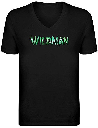 Wildman V-Neck T-Shirt for Men - 100% Soft Cotton - High Quality DTG Printing - Custom Printed Mens Clothing