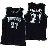 DGSFES # 21 Jersey de Hombre Baloncesto Swingman Jersey Garnett Timberwolves-1-L
