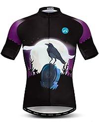 Qianliuk Camisetas de Ciclismo de Secado rápido de Pattarn del cráneo,Ropa de Ciclismo de