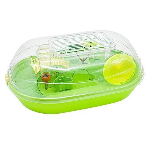 Hamster Cage Deluxe Villa Haustier Käfig aus Reise tragbaren Plastikkäfig Fun Hamster Käfig,Green