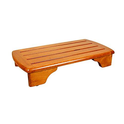 Chaise pliante QFFL Tabouret en Bois Plein rétro/Tabouret imperméable d'escalier de Salle de Bains/Pied de lit Pad 68 * 36 cm Tabouret d'extérieur