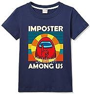 Forlcool Among Us - Camisa de manga corta estampada de algodón 100% (universal para niños y niñas)