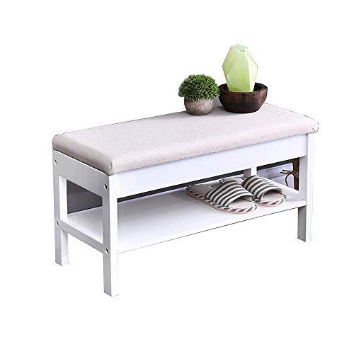 KALOY Schuhregal, Bambusschuhbank mit Lift Up Bench Top and Seat Cushion Hallway Shoe Storch Bench...