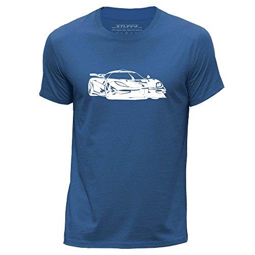 stuff4-herren-mittel-m-konigsblau-rundhals-t-shirt-schablone-auto-kunst-k-one