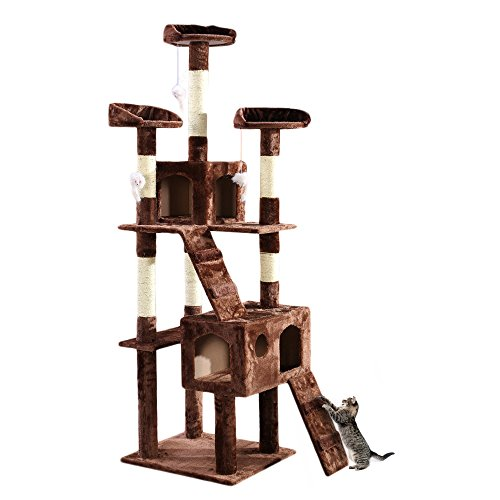 Panana Cat Scratching Tree Activity Centre Climbing Toy XXL 180cm CT501S (Brown)