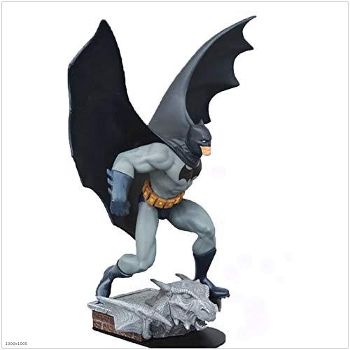 YONGMEI Batman, Avengers Gerechtigkeitsliga Filmpuppe Hand Run Comic Hero Batman Modell Statue (Farbe : SCHWARZ)