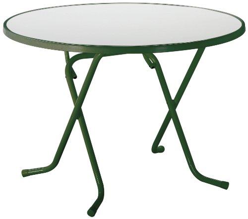 BEST 26521030 Scherenklapptisch Primo rund, Durchmesser 100 cm, grün