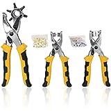 Kit Outils Perforatrice + Pince à Oeillet + Pince à Bouton Pression pour Artisanat de Cuir Ceinture Bracelet de Montre